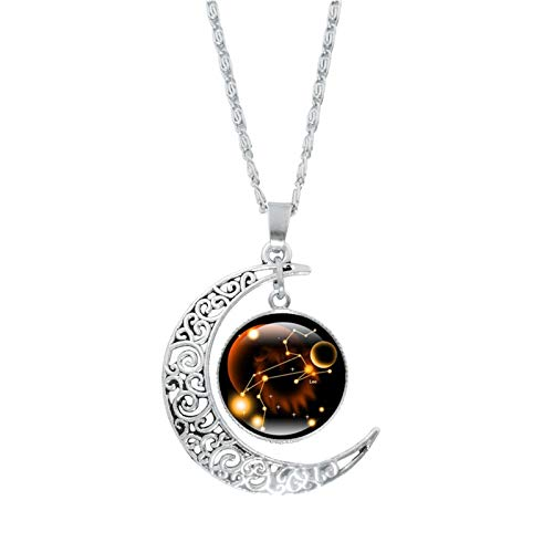 YONGFU Galaxy Crescent Moon Pendant Necklaces Jewelry for Women Teen Girls (Multicolor-K)