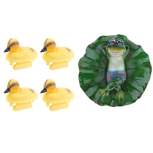 Sharplace Frosch Ente Schwimmfigur für Garten Teich fishpond, schwimmende Dekoration des Brunnenwassers oder Fischteich
