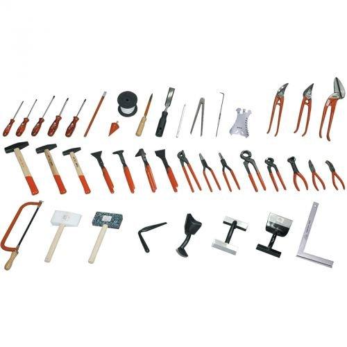 STUBAI Komplett Spenglersatz 40 teilig ohne Koffer S28394 zur Bearbeitung von Metalldächern, Fassadenblech und sämtlichen Anwendungen zur Metallbe- und Verarbeitung.