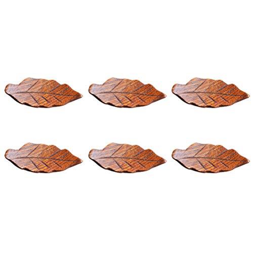 BESTONZON 6 STÜCKE Nette Blätter Stäbchen Halter Stäbchen Rest Set Abendessen Löffel Stehen Messer Gabel Halter Geeignet für Küche oder Party (5,5 cm)