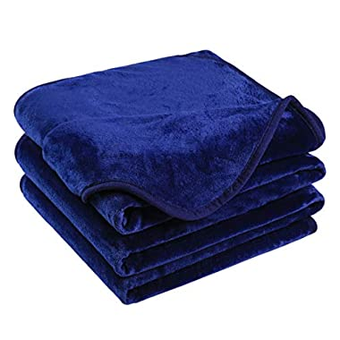 Emonia Luxury Fleece Blanket,330GSM - Queen Size Blankets Super Soft Warm Fuzzy Lightweight Bed & Couch Blanket(Royal Blue,90 x 90 inch)