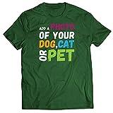 lepni.me Camisetas Hombre Diseño Divertido y Personalizado de su Perro, Gato o Mascota para los Amantes de los Animales (XXL Verde Oscuro Multicolor)