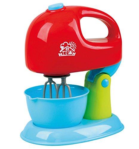 PlayGo Mixer Küchenmaschine mit Rührschüssel mit Funktionen rot blau