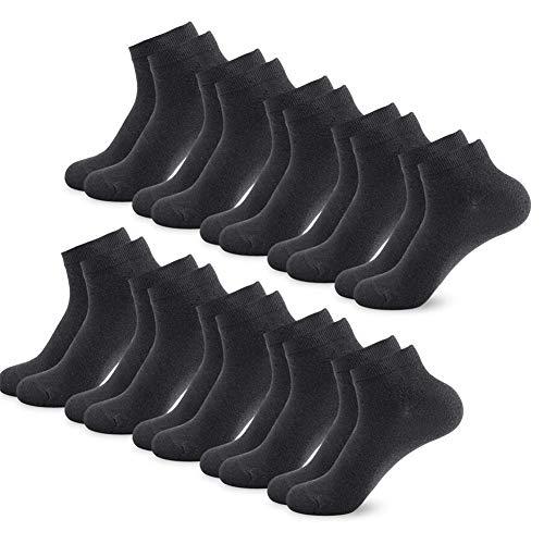 SmartQian Sneaker Socken Herren Damen Baumwollsocken 9/10 Paar Kurze Männer Halbsocken Sportsocken Unisex Unisex(Schwarz×10 43-46)