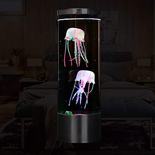Jeirifermtv LED Fantasy Qualle Lavalampe Qualle Aquarium Lampe 7 Farbeinstellungen Qualle Stimmungslicht Qualle Dekorationen für Zuhause Büro Dekor Geschenke für Kinder