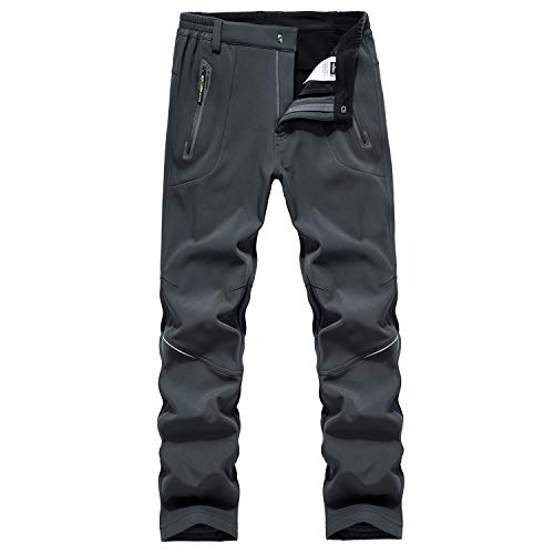BWBIKE Pantaloni Invernali da Uomo in Pile Spessi Caldi Caldi Pantaloni idrorepellenti Antivento Pantaloni da Trekking Pantaloni Soft Shell da Uomo
