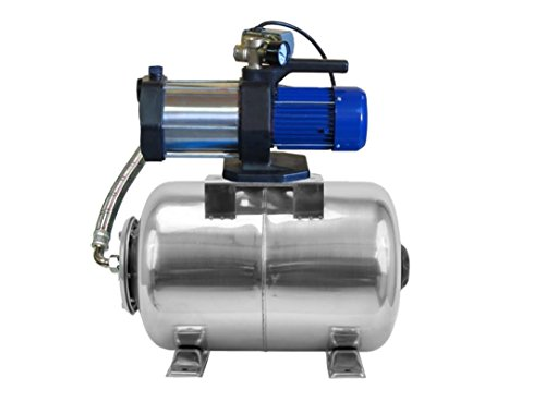 Pompe à eau MULTI 1300 INOX, POMPE DE JARDIN, 1300 W, 5400 l/h, 230V, 5,4 m3/h + ballon INOX 80 L