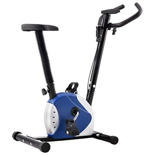 vidaXL Bicicleta Estática con Resistencia de Cinta Casa Gimnasio Fitness Entrenamiento Deporte Ejercicio Cardio Actividades Musculación Máquina Azul