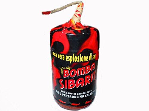 Bomba Calabrese con Miccia 290gr Idea Regalo - Mix di Peperoncino e Ortaggi - Esplosione di Gusto