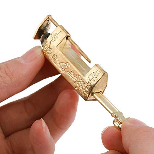 Vorhängeschloss Vintage Gold Chinesische Alte Sperre Vintage Messing Vorhängeschloss Antikschmuck...