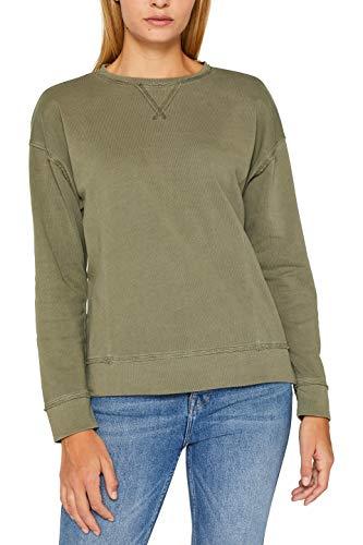 edc by ESPRIT Damen 089Cc1J002 Sweatshirt, Grün (Khaki Green 350), X-Small (Herstellergröße: XS)
