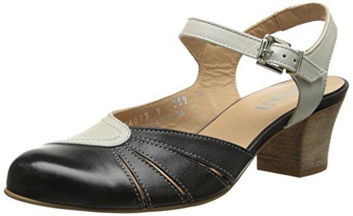 Fidji Damen V069 Kleid Pumps, Schwarz (schwarz/weiß), 38 EU