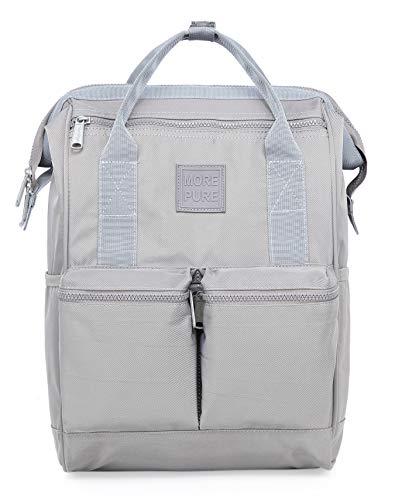 HotStyle MOREPURE 239s Fashion Blumen Damen Laptop Rucksack 14 Zoll (44x27x17cm), Grau