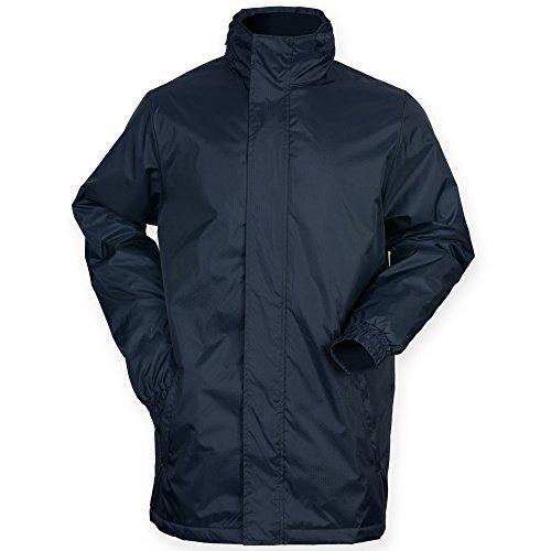 Finden & Hales - Chaqueta deportiva con capucha y cremallera modelo Touchline para hombre (M/Azul marino)