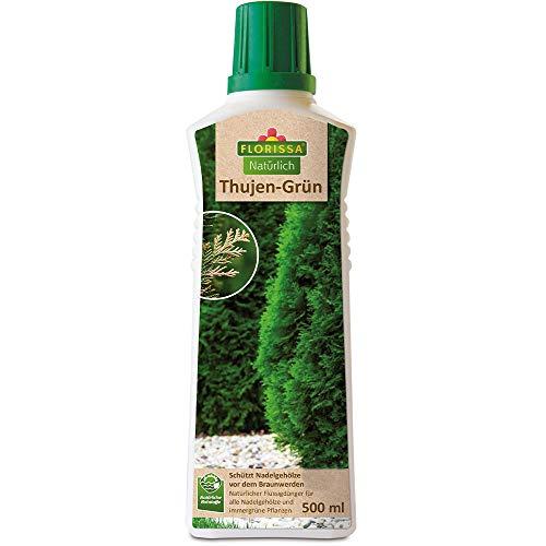 Florissa Natürlich 58985 Thujen natürlichem Bittersalz für grüne Nadelgehölze und immergrüne Pflanzen | beugt braunen Nadeln, Blättern und Chlorosen vor | vegan, aus rein pflanzlichen Rohstoffen