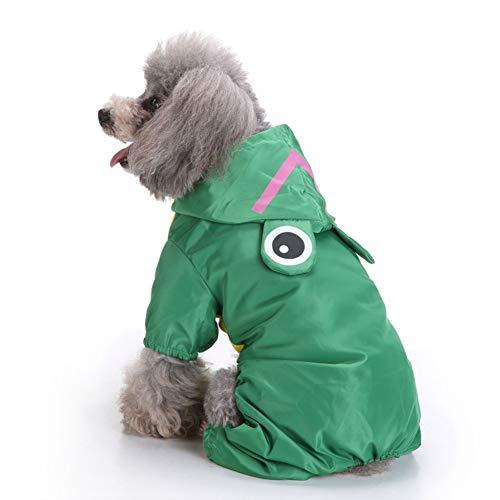 RIRUI Creatieve hond regenjas met een gevoerde mesh doek dat is comfortabel en ademend, vierbenige zijaanscherping ontwerp, winddicht