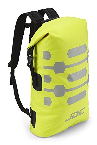JDC Motorrad Rucksack 100% wasserdichte Tasche 30L - Reflector - Gelb