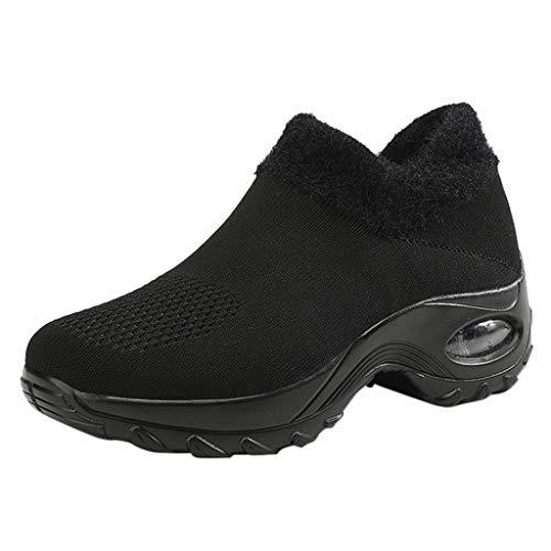 acction Zapatillas Deportivas de Mujer Gimnasio Zapatos Running Deportivos Fitness Correr Casual Ligero Comodos Respirable Negro Gris Blanco 35-42