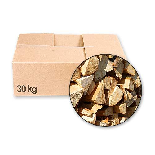 30 Kg Eiche - Brennholz Kaminholz Feuerholz Lagerfeuer Holz FRISCH/VORGELAGERT