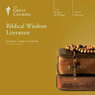 Biblical Wisdom Literature audiobook cover art