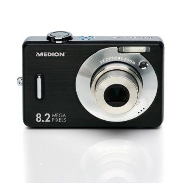 Medion MD 85766 Digitalkamera (8 Megapixel, 3-Fach Opt. Zoom, 6,4 cm (2,5 Zoll) Display) schwarz