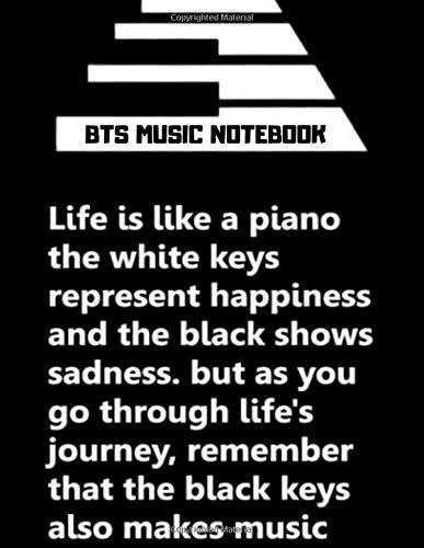 BTS MUSIC NOTEBOOK