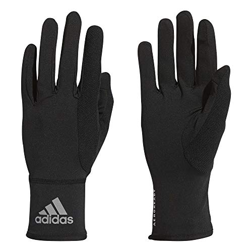 adidas Unisex-Adult A.rdy Glove Liners, Black/Reflective Silver/White, L
