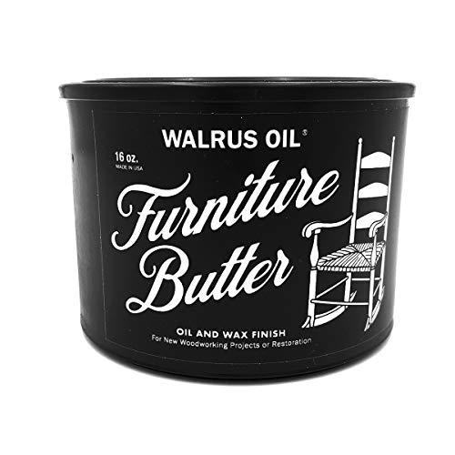 WALRUS OIL - Furniture Butter - Oil and Wax Finish for Tables, Chairs, and Woodworking Projects, 100% Plant Based, 16oz