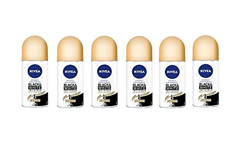 Nivea Deo (Black & White Invisible Silky Smooth) - 6 x 50 ml (in totaal 300 ml)