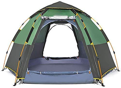 5-8 people-Portable Folding Dome Instant Tent Camping Canopy for Hiking Travel Beach Vacation Outdoor Sports Gear Automatic Camping Tent (Color : Brown) kshu (Color : Green)