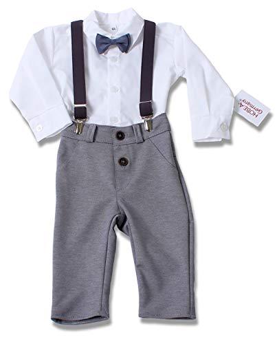 HOBEA-Germany Taufanzug Jungen, Taufkleidung Junge, Anzug Baby Junge für die Taufe für Babys und Kinder Design Jakob, Größe 80