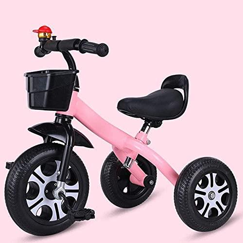 GPWDSN Triciclo Ligero Triciclo para niños Triciclo de Ciclismo para niños, Coches de Pedales para niños Cochecito de bebé de Potencia Ligera Triciclo de Pedales Antideslizante, Bicicleta de entren