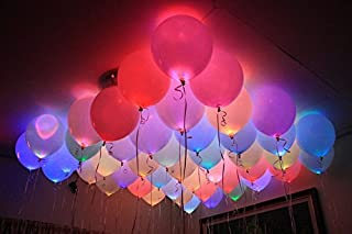 Smartcraft Led Balloons - Pack of 25, Party Decoration Balloons- Assorted Colors