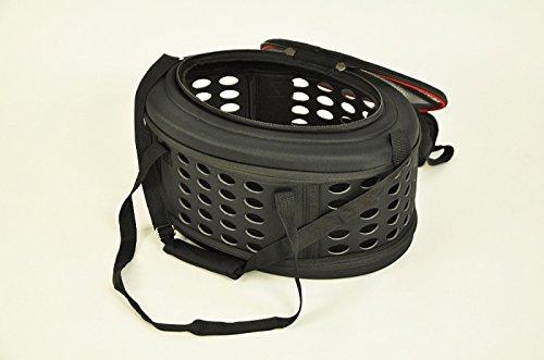 nanook faltbare Transporttasche / Transportbox für Katze, Kaninchen und kleine Hunde, 43 cm , schwarz - 3