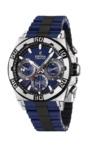 Festina Herren-Armbanduhr XL Tourchrono 2013 Chronograph Quarz Verschiedene Materialien F16659/2