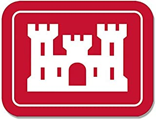LPF USA Rectangular Army Corps of Engineers Logo Sticker (Insignia Castle Decal)