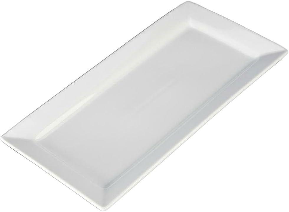 Large-scale sale BIA Cordon Bleu Inc. Rectangle High order White Platter
