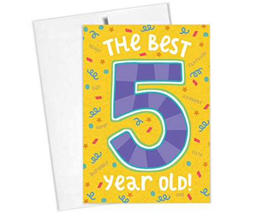 Price comparison product image Tiny Expressions Happy Birthday Card for 1st,  2nd,  3rd,  4th,  5th Birthdays (5th Birthday Card)