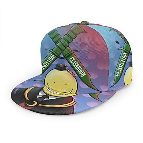 961 Assassination Classroom Baseball Cap, Solid Flat Bill Adjustable Snapback Hats Unisex, Perfect for Outdoor Activities Black