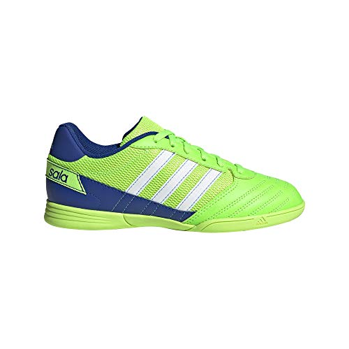 Adidas Super Sala J, Running Shoe, Solar Green/White/Royal Blue, 38 EU