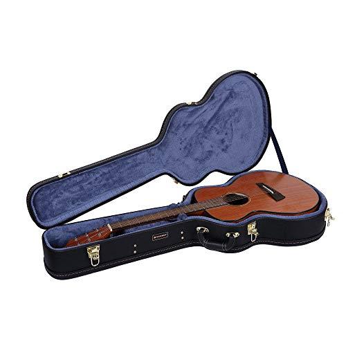 Crossrock Deluxe Holzkoffer für OM/000 Gitarrenkoffer OM schwarz