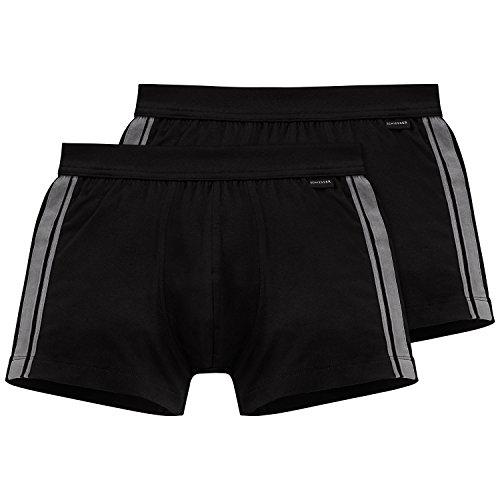Schiesser Herren Unterhose 2er Pack, Schwarz (schwarz 000), X-Large (Herstellergröße 007)