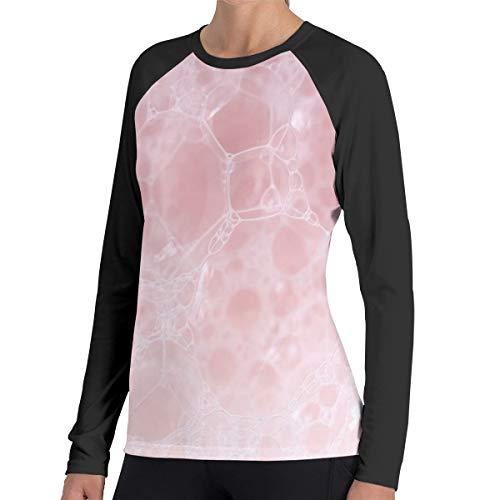 Roze Zeep Schuim Vrouwen Raglan Zachte Kleur Blok Baseball Lange Mouw Trui Tuniek Top T-Shirts Klassieke Blouses Top Tee