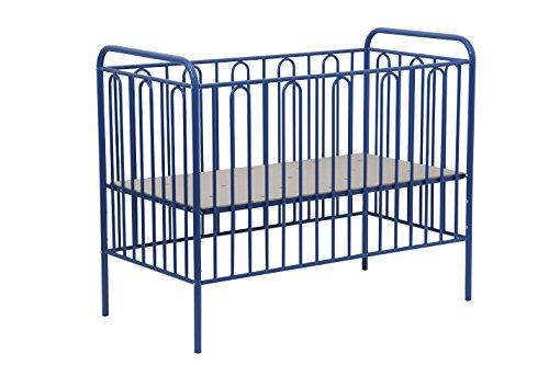 Babybett Gitterbett Kinderbett aus Metall Polini Vintage 110 blau 120 x 60 cm