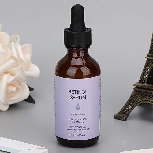 Suero de retinol, suero hidratante para la piel, suero antiarrugas suave, 60 ml que contiene vitamina A, C y E ilumina la piel para salón de belleza para mujeres
