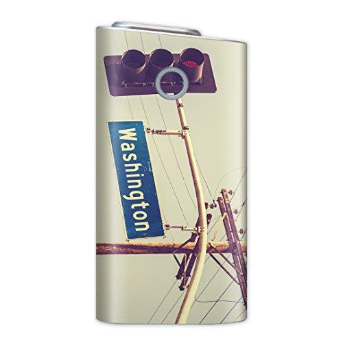glo グロー グロウ 専用スキンシール 裏表2枚セット カバー ケース 保護 フィルム ステッカー デコ アクセサリー 電子たばこ タバコ 煙草 喫煙具 デザイン おしゃれ glow ワシントン 外国 写真 011263