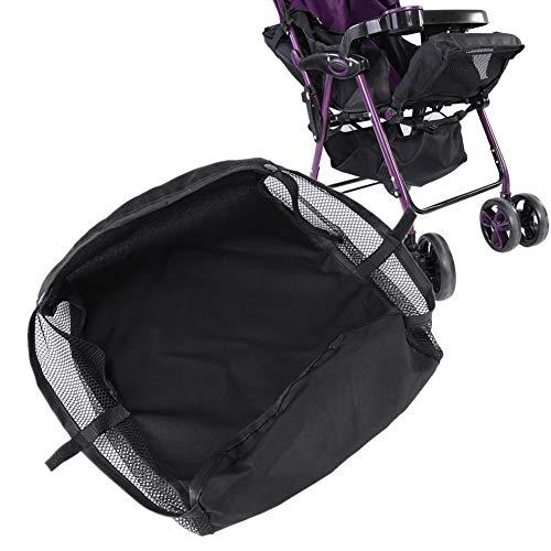 Cesta para cochecito de bebé,  cochecito para cochecito,  carrito de compras,  caja de almacenamiento,  organizador colgante inferior,  bolsa,  organizador de accesorios de red