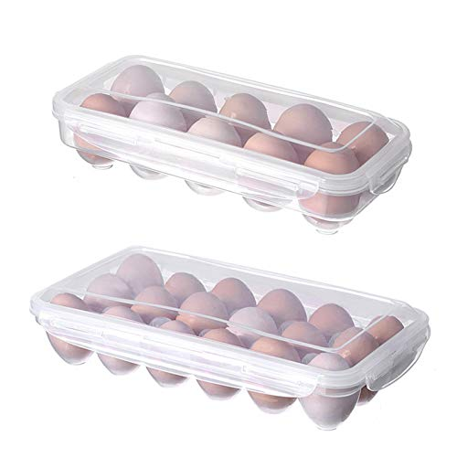 Foochow Cartón de Huevos Plástico, Caja de Almacenamiento para Huevos, Soporte portátil...