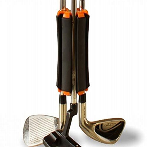 El transportador de palos de golf es un compacto esencial para llevar sin bolsa Days-Club con un marcador de bola de metal (negro)