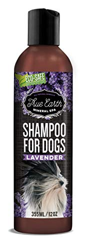 TrueEarth lavender natural mineral shampoo for dog/puppy. No soap no oatmeal formula. Best for dogs with dry,itchy,allergy or sensitive skin. No conditioner required.Clean and fresh smell after wash.